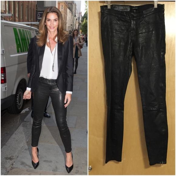 J Brand Pants - J Brand L8001 Super-Skinny Mid-Rise Leather Leggin